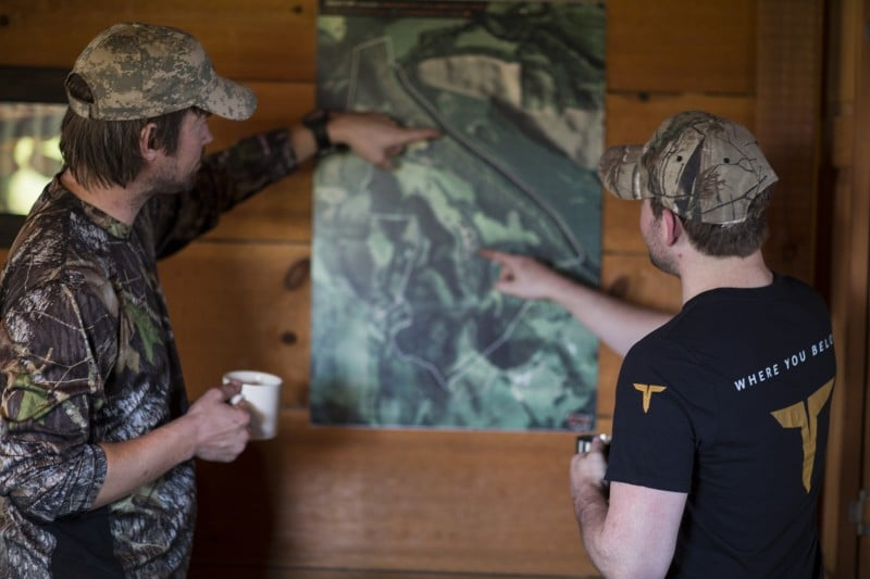 Use an aerial map to hone in on potential deer bedding areas.